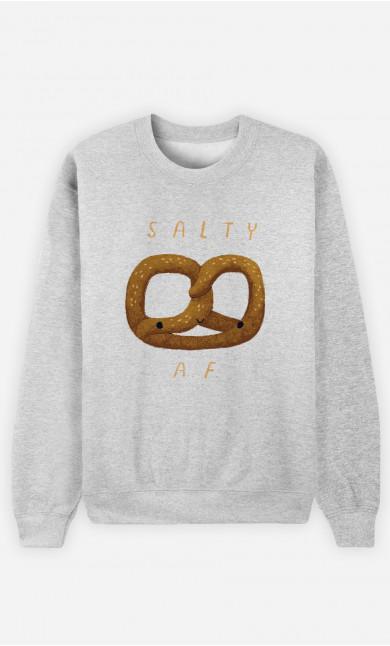 Woman Sweatshirt Salty Af