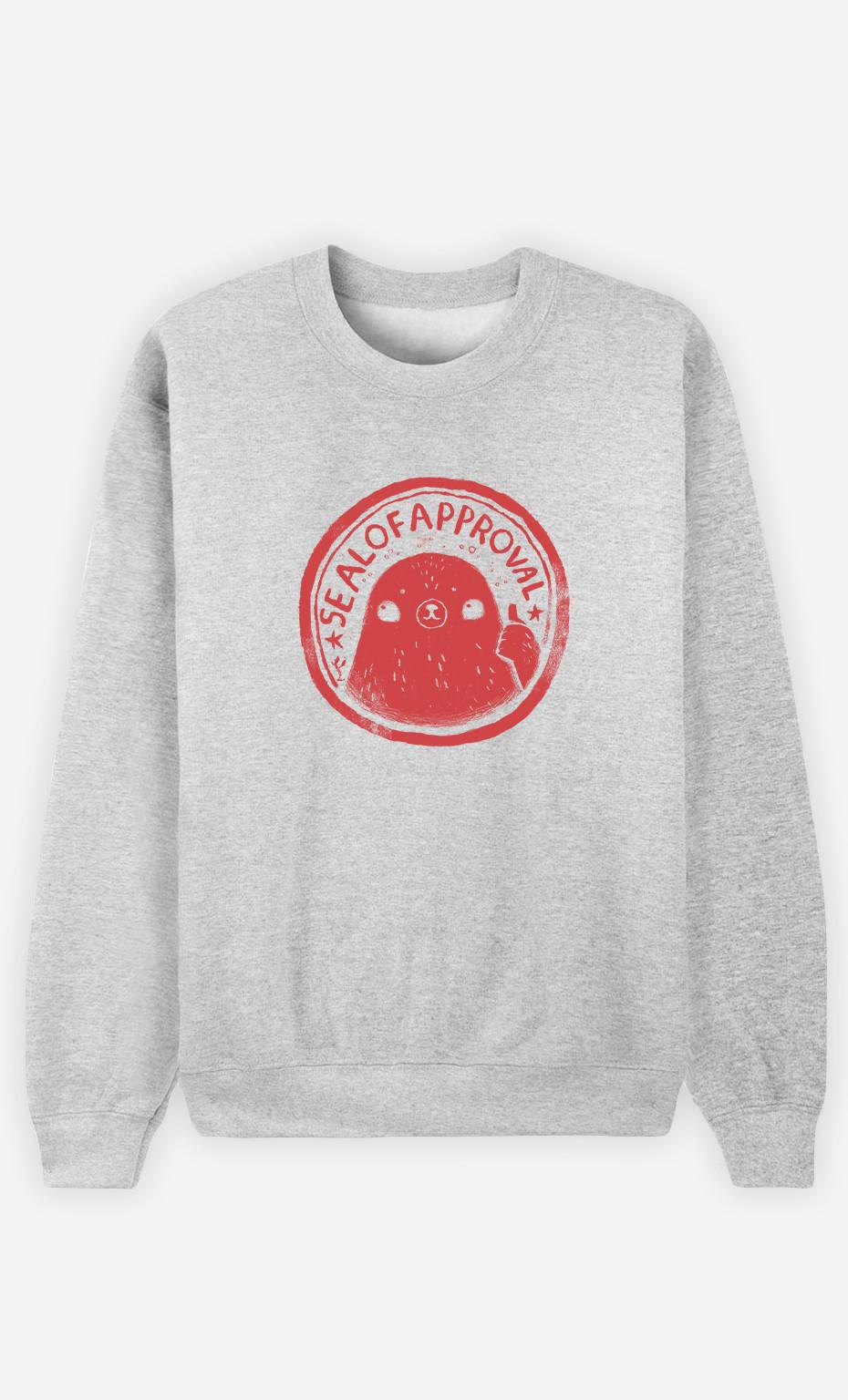 Woman Sweatshirt Seal Of Approval
