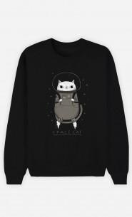 Woman Sweatshirt Space Cat