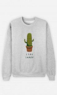 Woman Sweatshirt Stay Sharp
