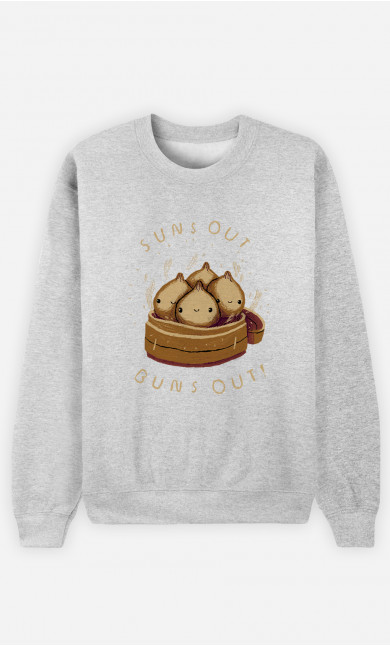Woman Sweatshirt Buns Out