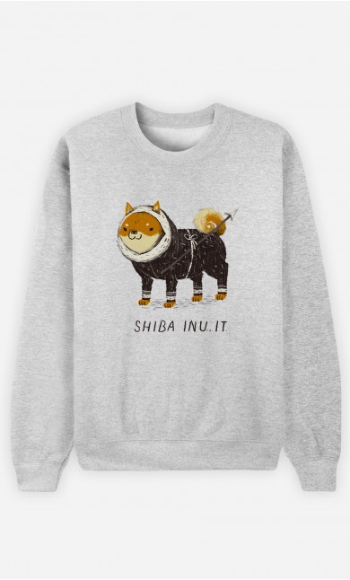 Man Sweatshirt Shiba Inuit