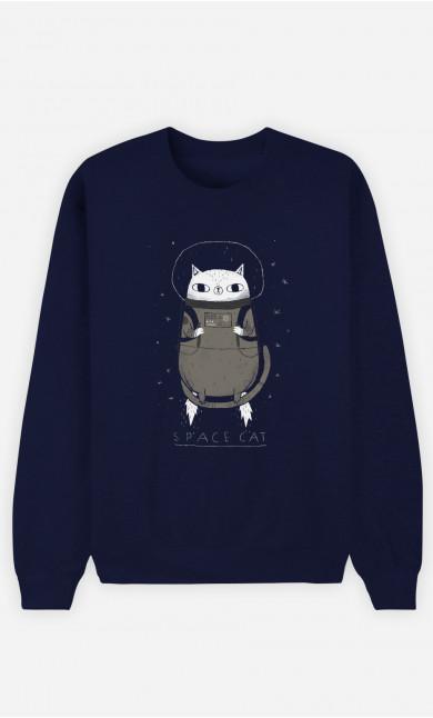 Man Sweatshirt Space Cat
