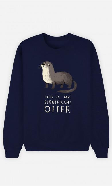 Man Sweatshirt Significant Otter
