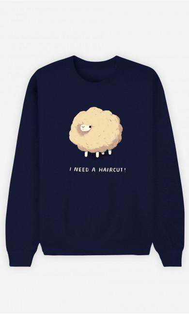 Man Sweatshirt Haircut Sheep