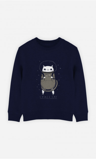 Kid Sweatshirt Space Cat