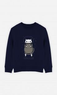 Kid Sweatshirt Space Cat