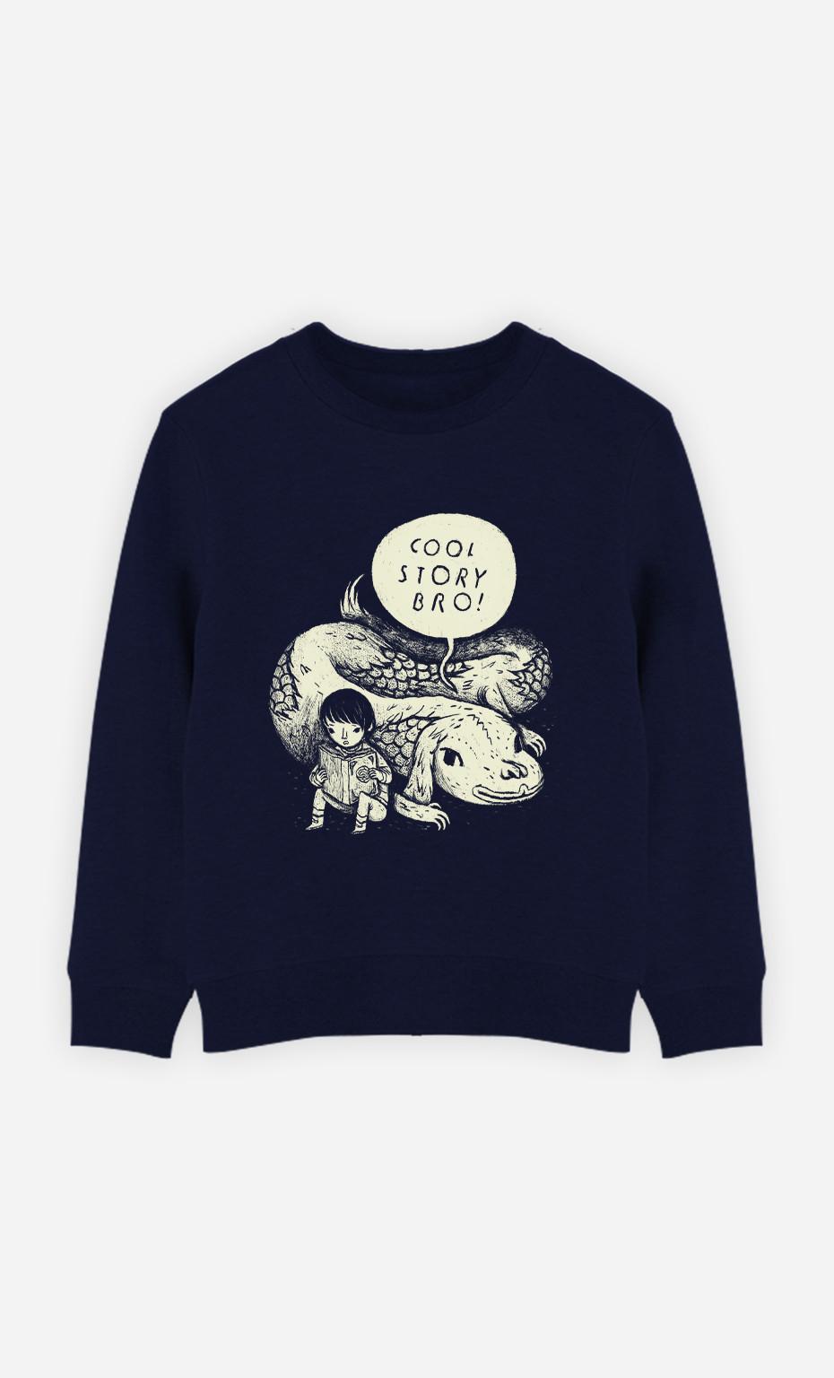 Kid Sweatshirt Cool Story Bro
