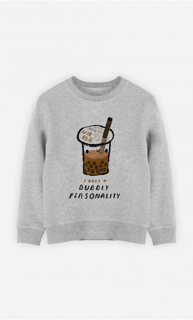 Kid Sweatshirt Bubble Tea