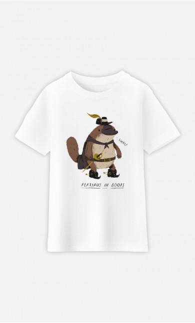Kid T-Shirt Platypus In Boots