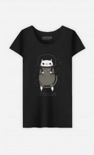 Woman T-Shirt Space Cat