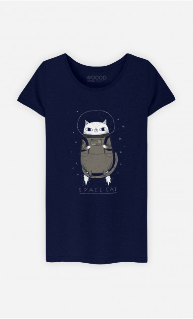 Woman T-Shirt Space Cat