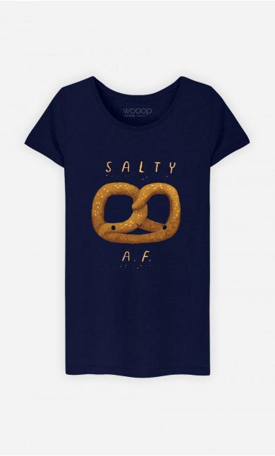 Woman T-Shirt Salty Af