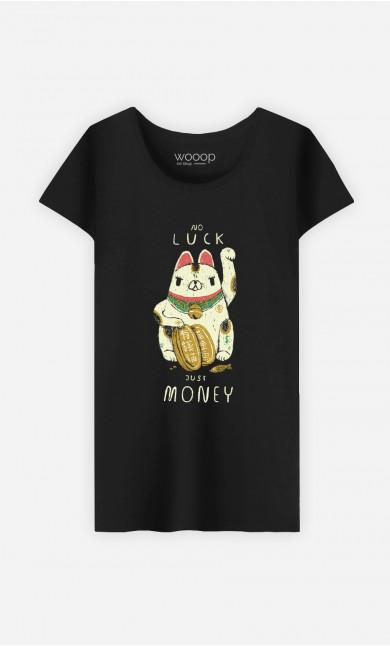 Woman T-Shirt Money Cat