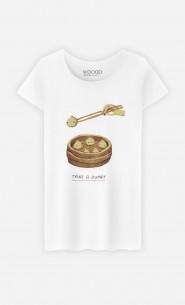 Woman T-Shirt Take A Dump