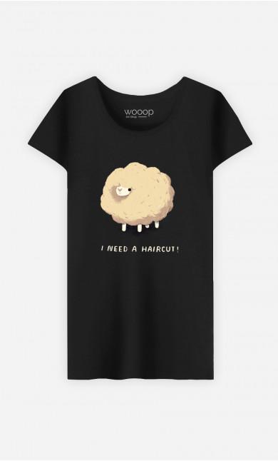 Woman T-Shirt Haircut Sheep