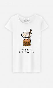 Woman T-Shirt Bubble Tea