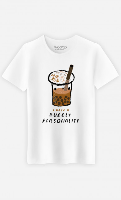 Man T-Shirt Bubble Tea