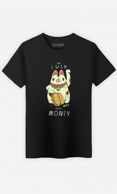 Man T-Shirt Money Cat