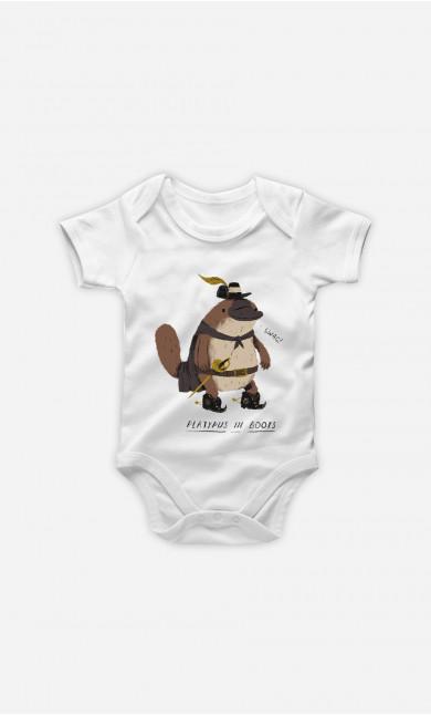 Baby Bodysuit Platypus In Boots