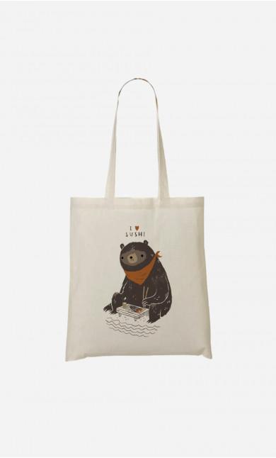 Tote Bag Sushi Bear