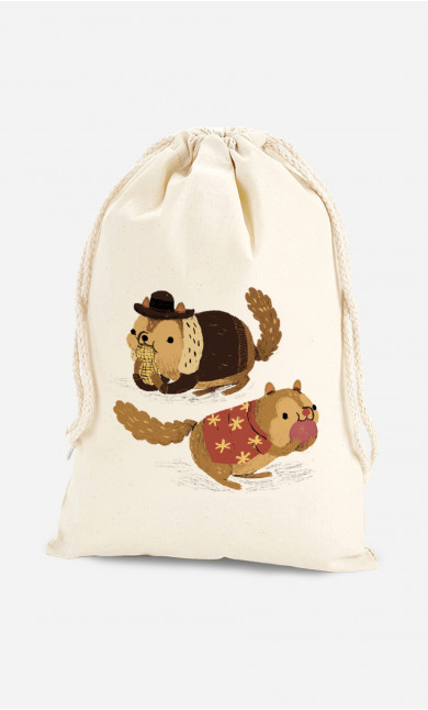 Cotton Bag Chip And Dale