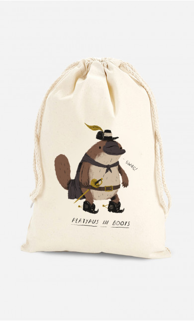 Cotton Bag Platypus In Boots