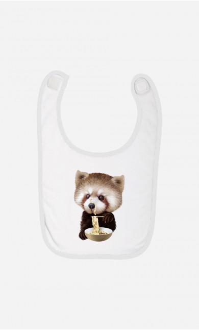 Baby Bib Red Panda Loves Noodles