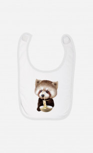 Baby Bib Red Panda Loves Noodles