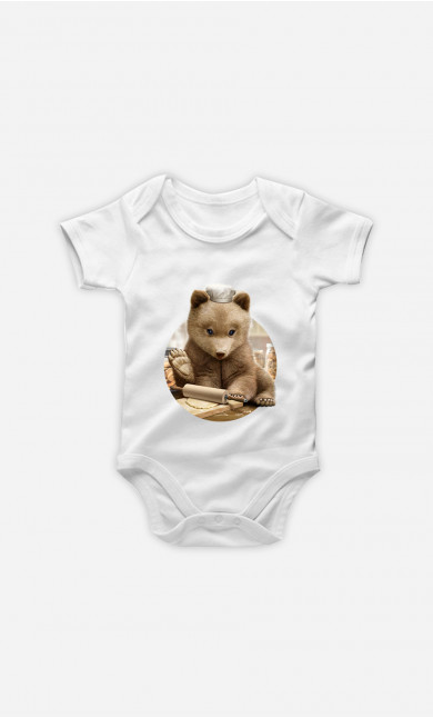 Baby Bodysuit Chef Bear