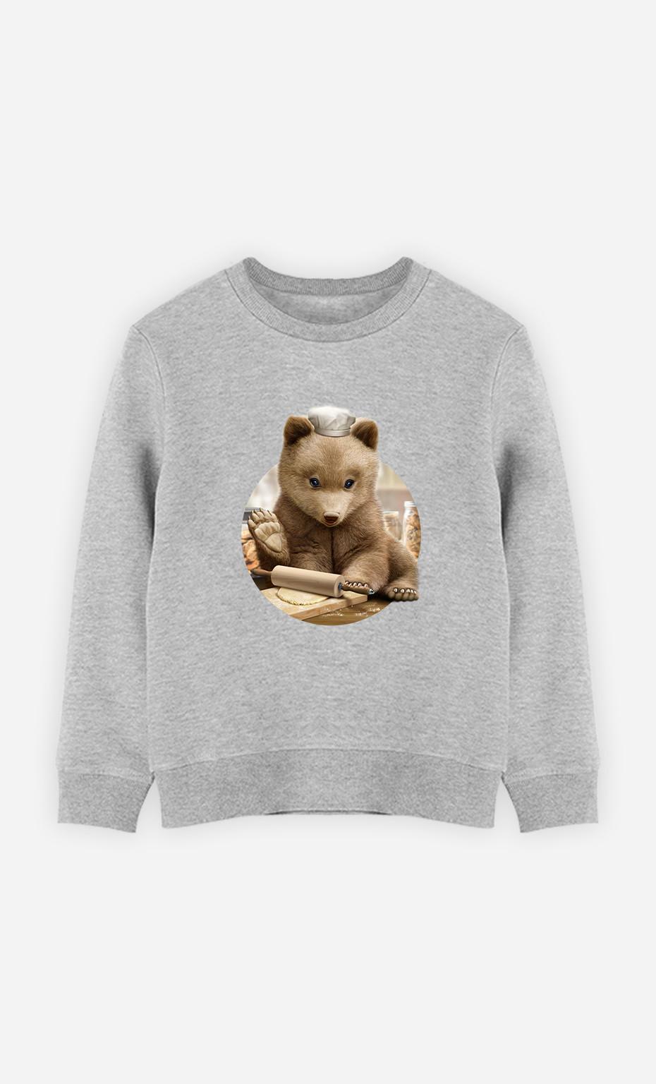Kid Sweatshirt Chef Bear