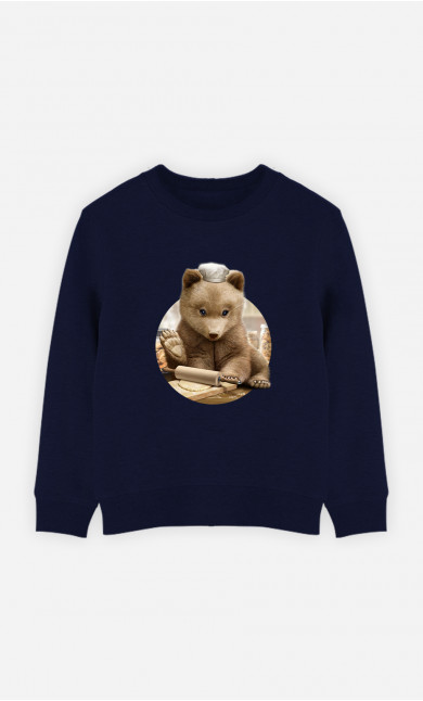 Kid Sweatshirt Chef Bear