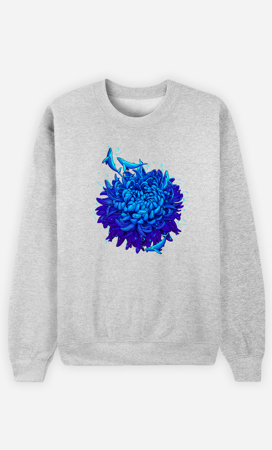 Man Sweatshirt Sea Flower