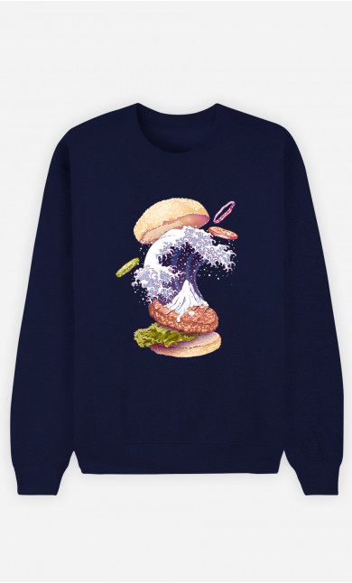 Man Sweatshirt Kanagawa Burger