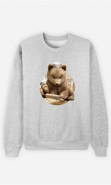 Woman Sweatshirt Chef Bear