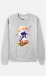 Woman Sweatshirt Kanagawa Burger