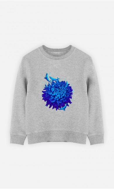 Woman Sweatshirt Sea Flower