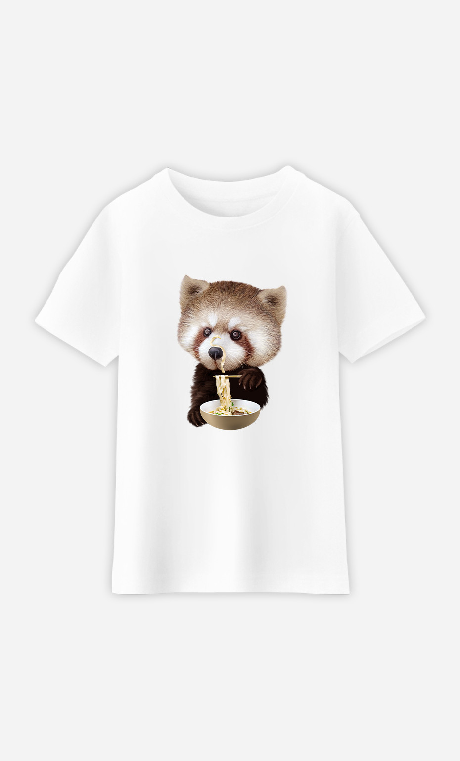 Kid T-Shirt Red Panda Loves Noodles