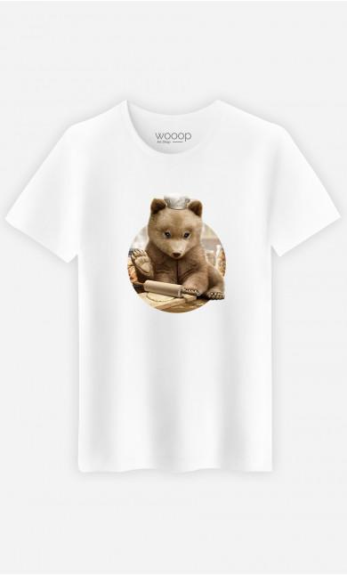 Man T-Shirt Chef Bear
