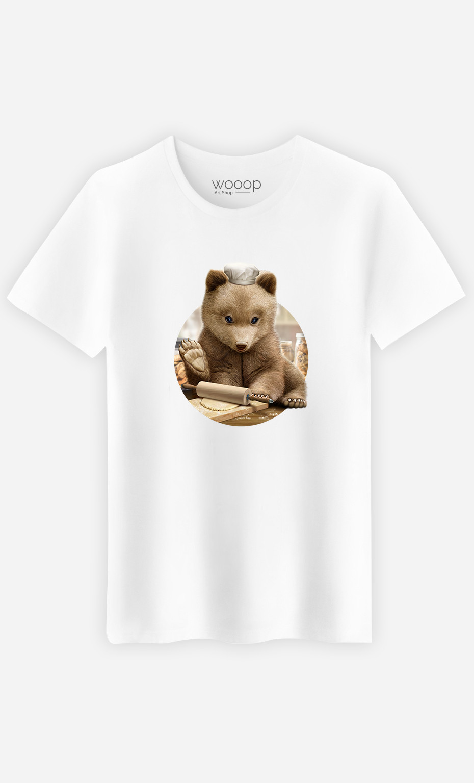 Man T-Shirt Chef Bear