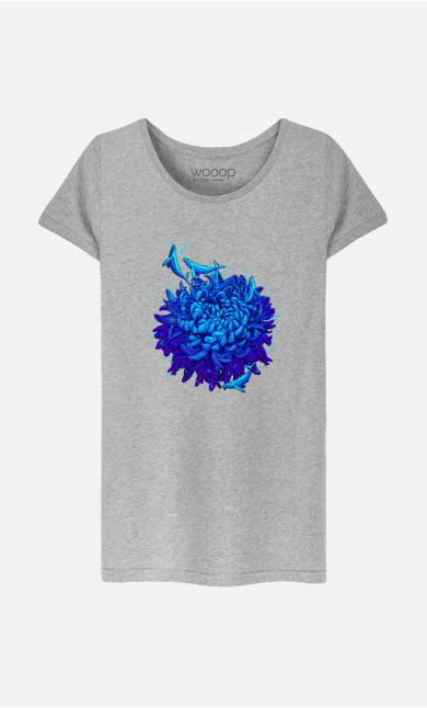 Woman T-Shirt Sea Flower