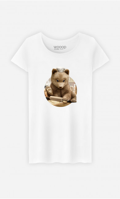 Woman T-Shirt Chef Bear