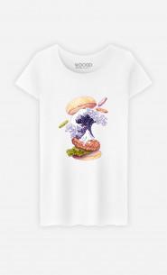 Woman T-Shirt Kanagawa Burger