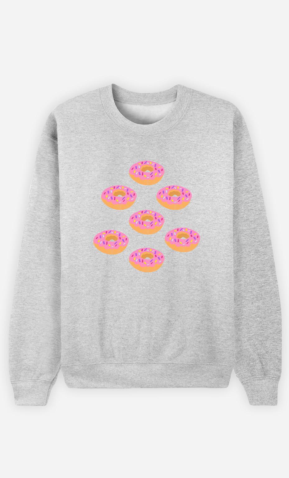 Man Sweatshirt Donuts