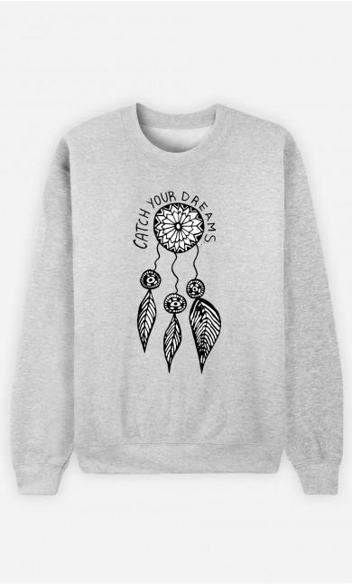 Woman Sweatshirt Catch Your Dreams