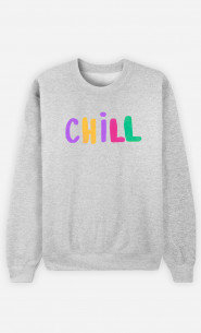 Woman Sweatshirt Chill