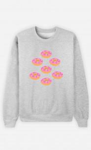 Woman Sweatshirt Donuts