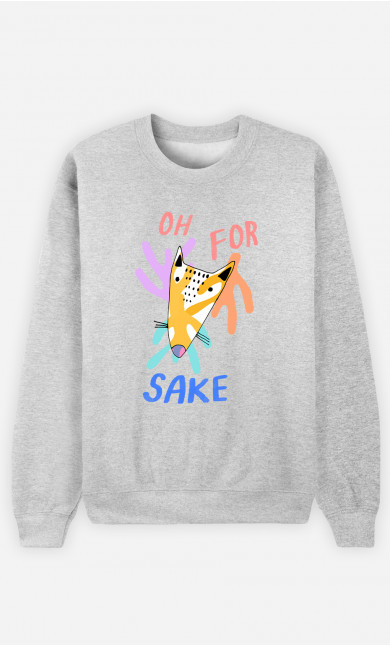 Woman Sweatshirt For Fox Sake
