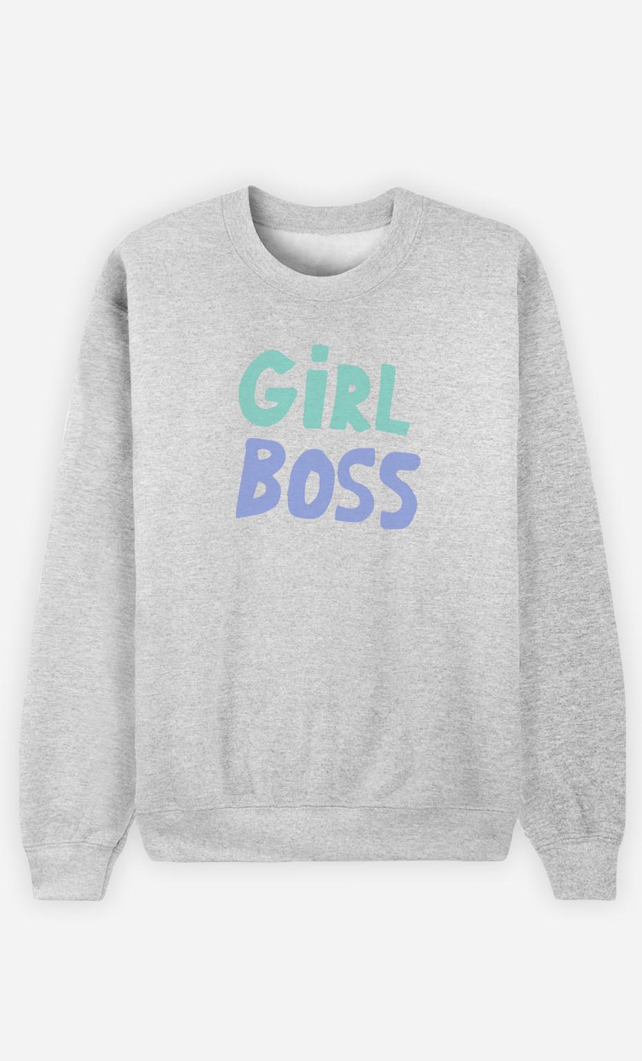 Woman Sweatshirt Girl Boss