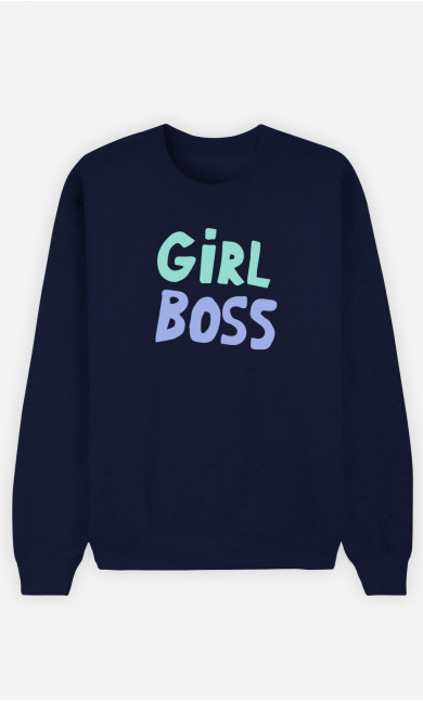 Woman Sweatshirt Girl Boss